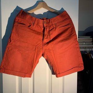Trendy jean material shorts